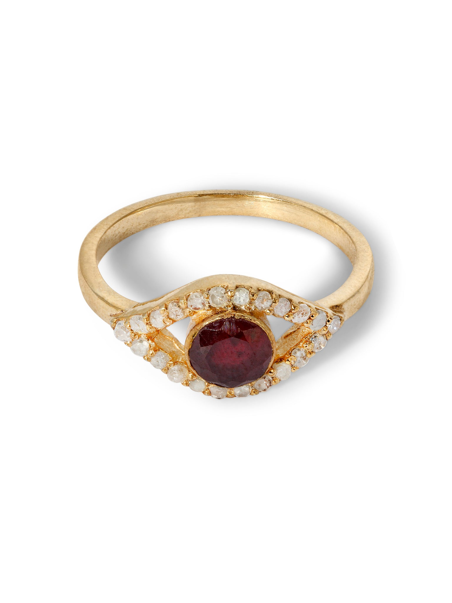 The Diamond Iris Ring - Ruby