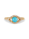 The Diamond Iris Ring - Turquoise