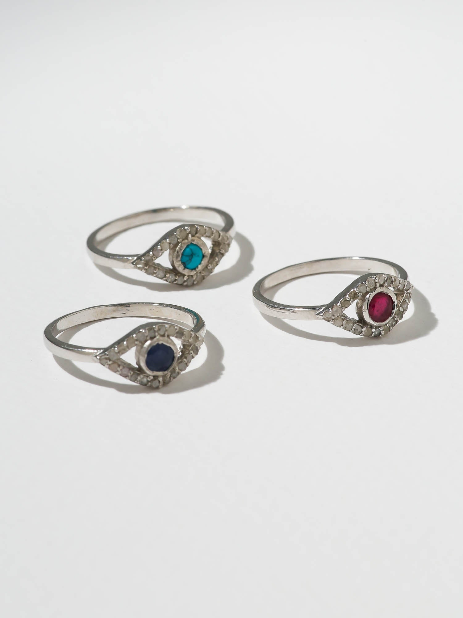 The Diamond Iris Ring - Sapphire