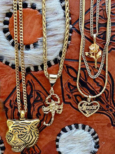 The Latifah Tiger Gold Necklace