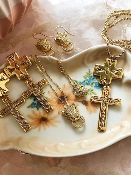 The Double Cross Necklace