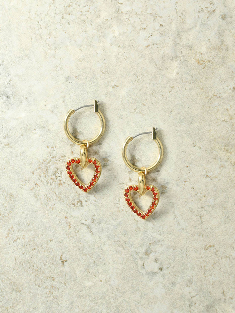 The Angel Heart Charm Earrings