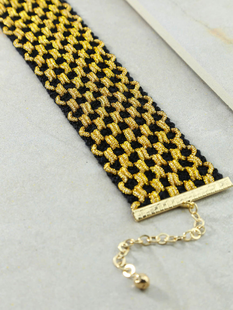 The Go Go Black And Gold Choker