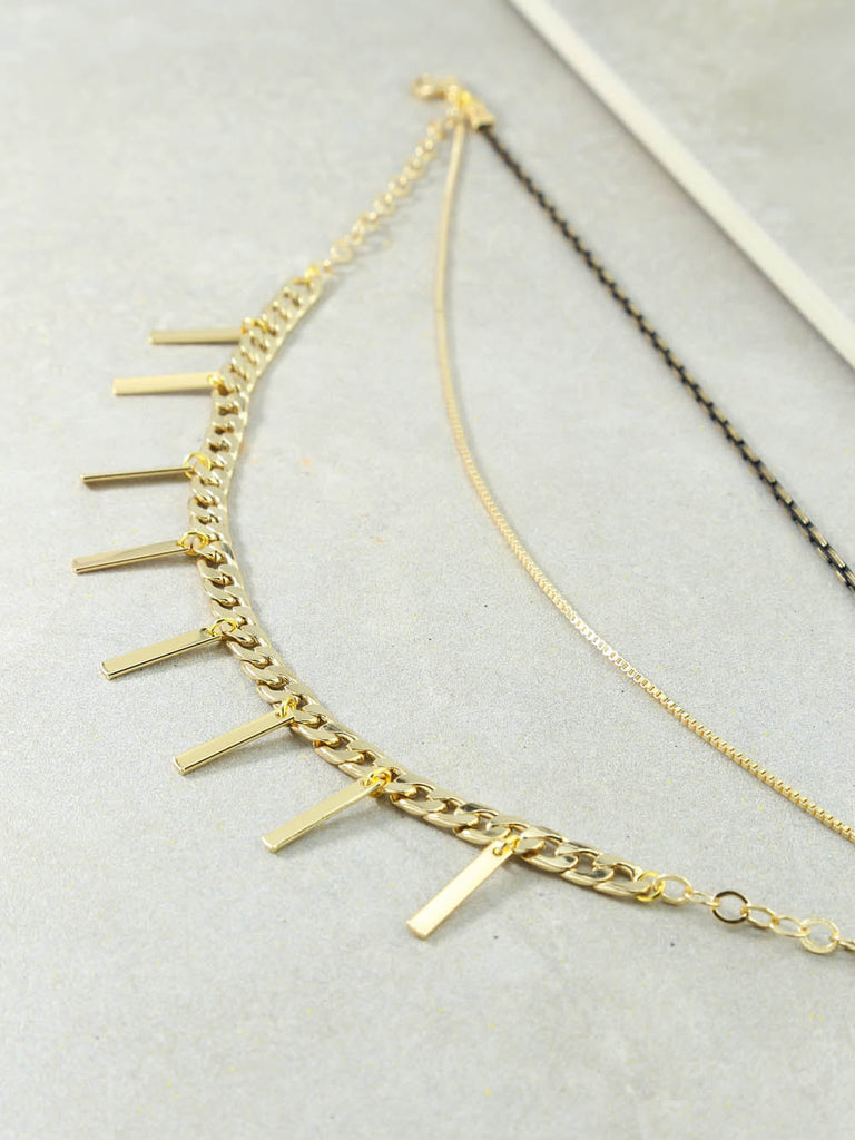 The Halen Gold And Black Necklace
