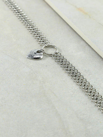 The Our Amour Silver Choker