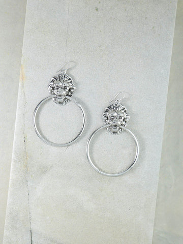 The Vandal Door Knocker Earrings Silver