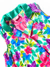 Vintage Collared Blouse - Bright Floral