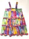 Vintage Patchwork Ruffle Dress