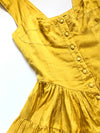 Vintage Elisabeth Dress - Hand-Dyed Marigold Silk