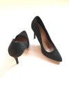 Vintage Suede High Heels - Black