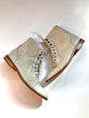 Vintage Items Vintage Lace-Up Boots - Ivory Vanessa Mooney