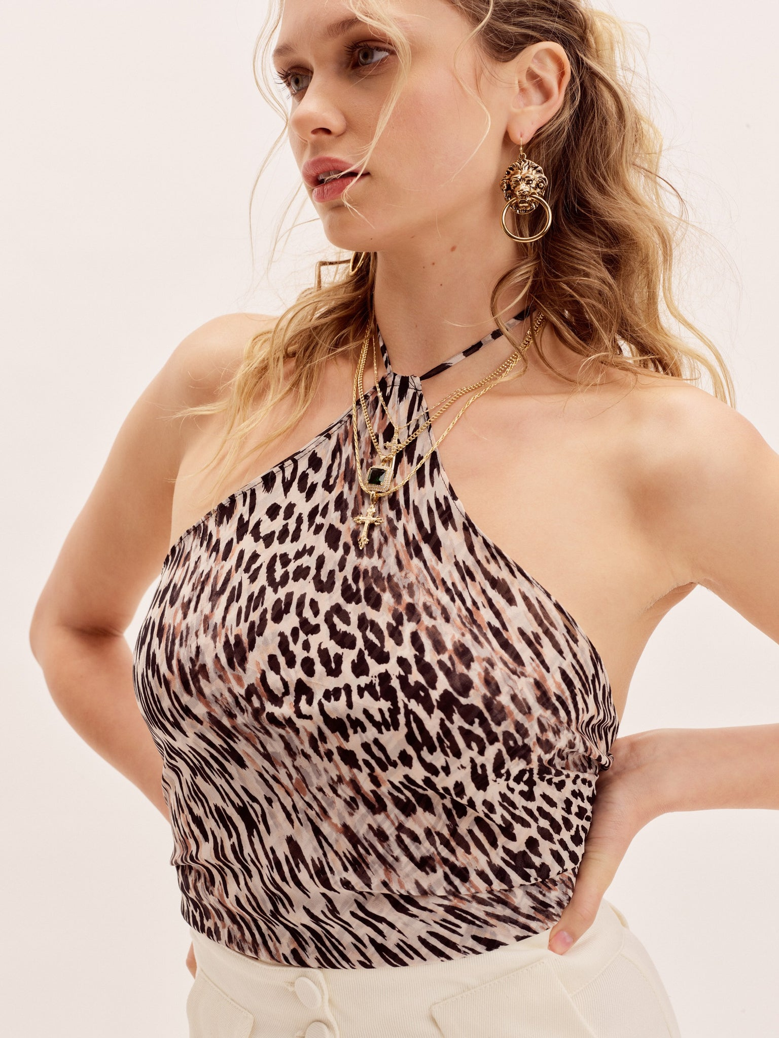 Clothing The Elle Top - Leopard Print Vanessa Mooney