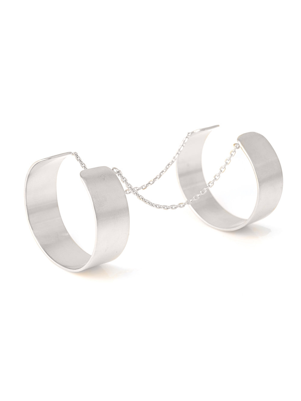 Bracelets Anarchy Silver Double Cuff Vanessa Mooney