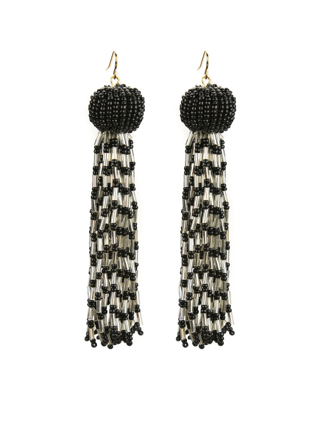 clone save tassle white earrings img store black tassel statement drop blush