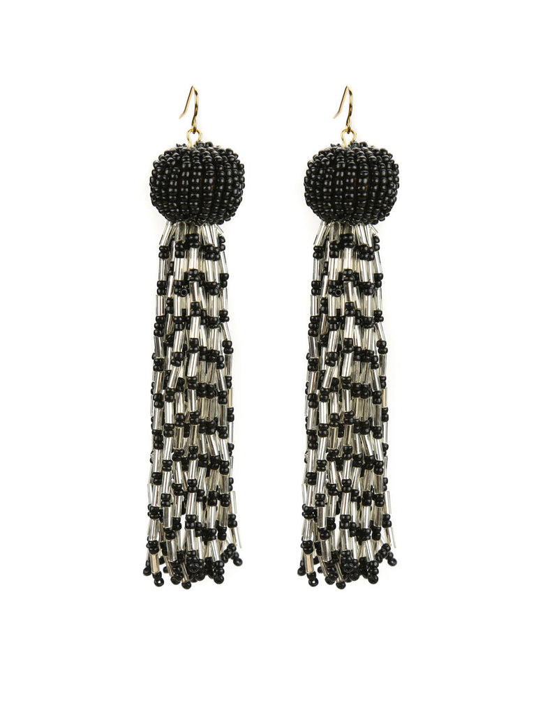 The Antoinette Beaded Tassel Earrings