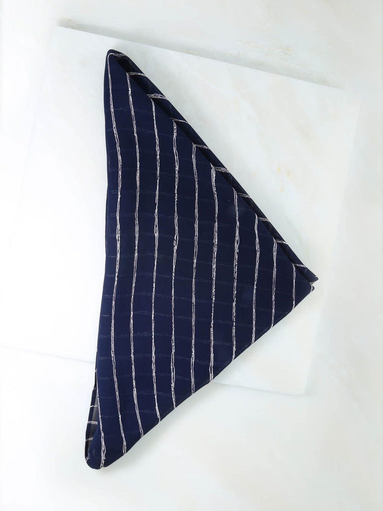 The Navy & White Stripe Rush Bandana