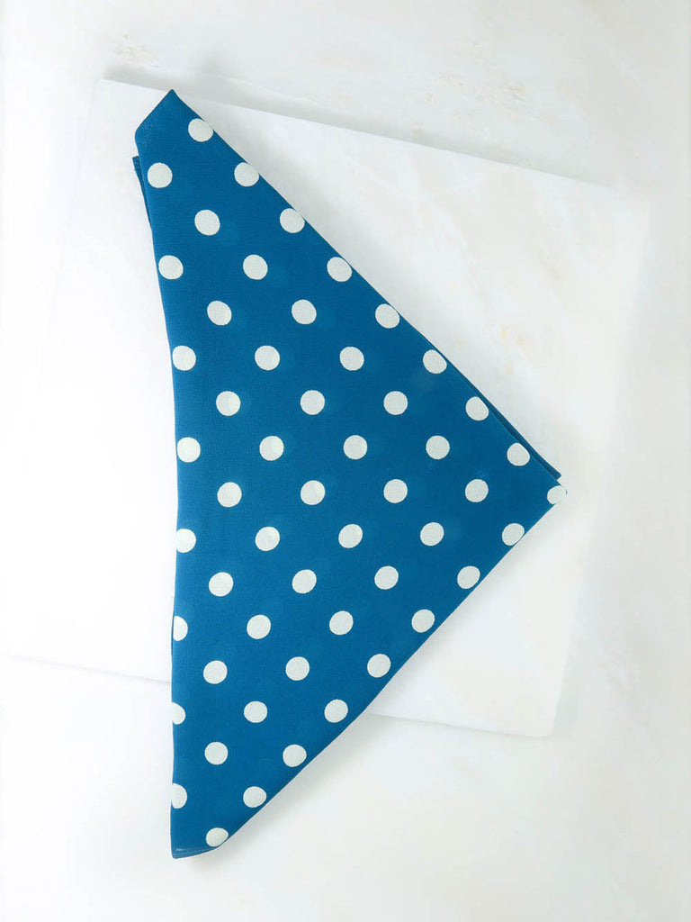 The Teal Polka Dot Rush Bandana