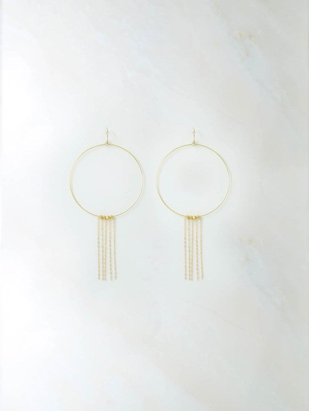 The Beat Generation Tassel Hoops