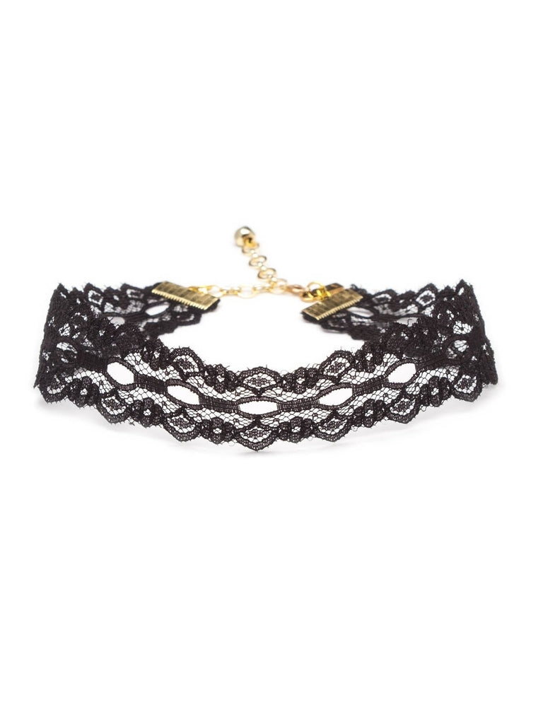 Black Wide Lace Choker