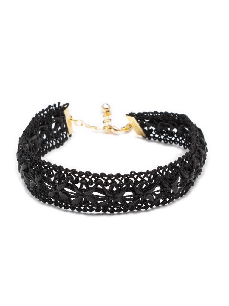 Leather Lace Choker
