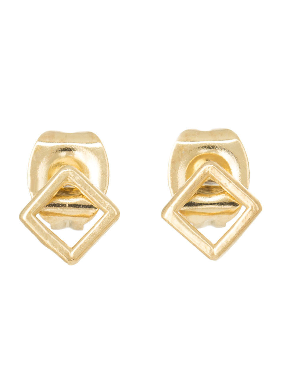 The Casablanca Cut Out Diamond Gold Studs