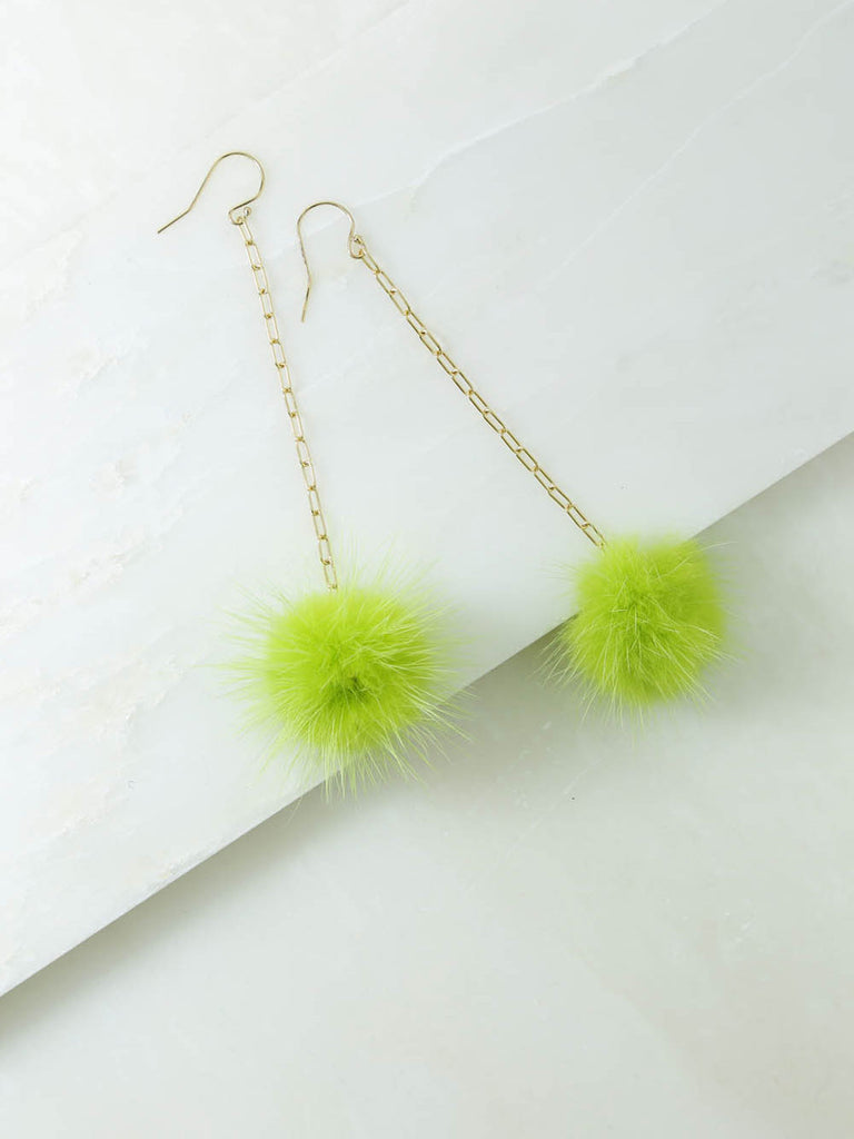 The Decades Pom Pom Earrings