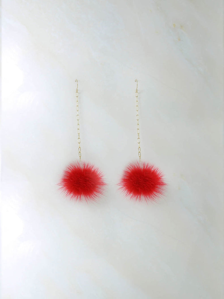 Earrings The Decades Pom Pom Earrings Vanessa Mooney