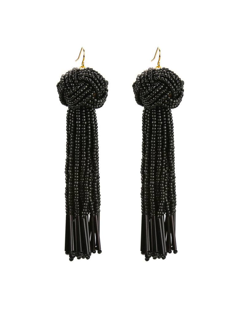 The Darla Beaded Tassel Earrings