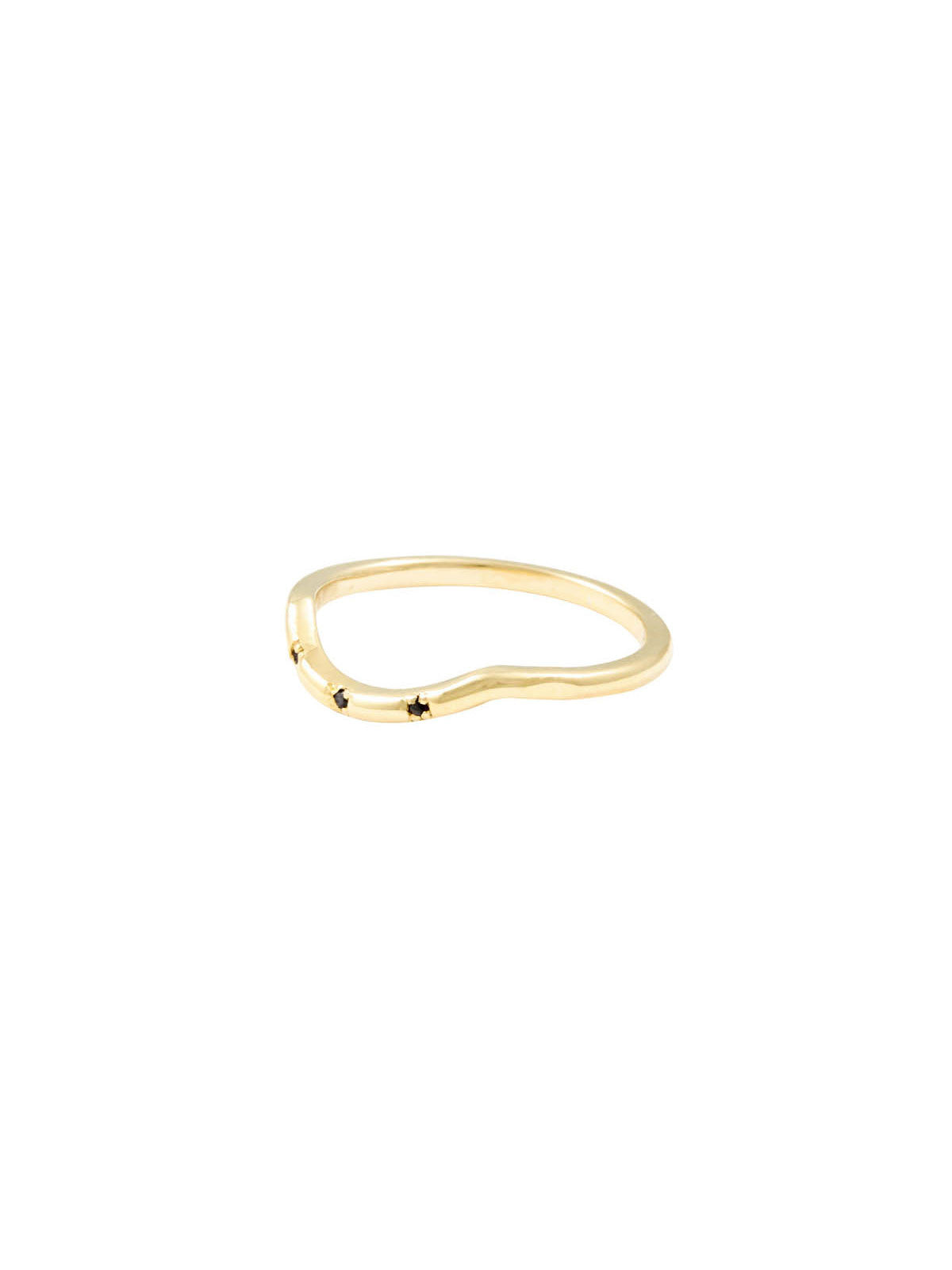 Rings The Darling 3 Stone Gold Black Diamond Ring Vanessa Mooney