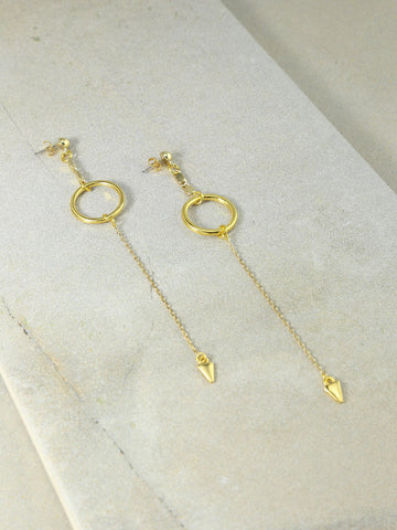 The Julian Drop Earrings Gold