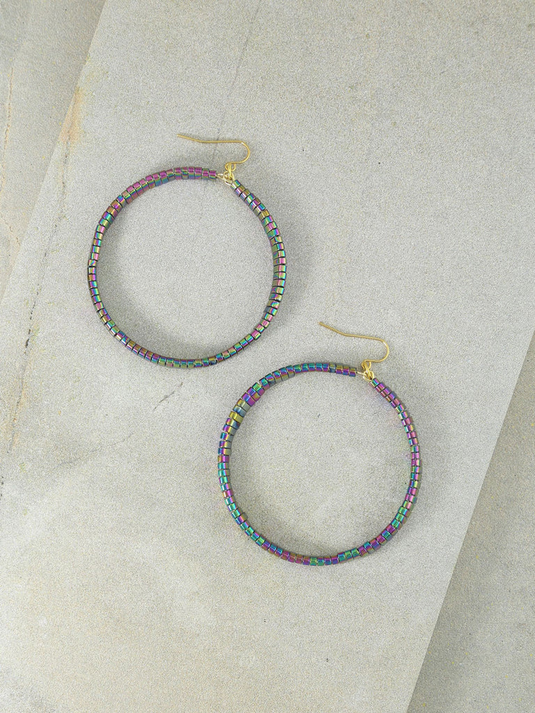 The Skylar Rainbow Hoops