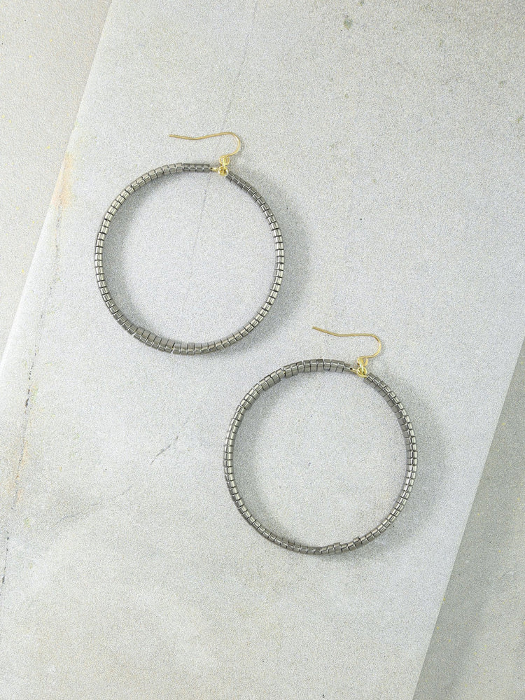 The Skylar Silver Hoops