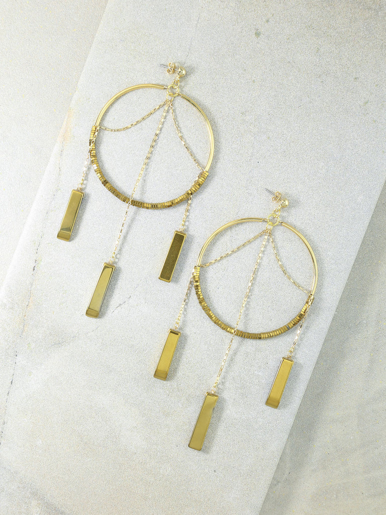 The Meadow Gold Hoops