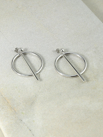 The Finn Silver Hoops