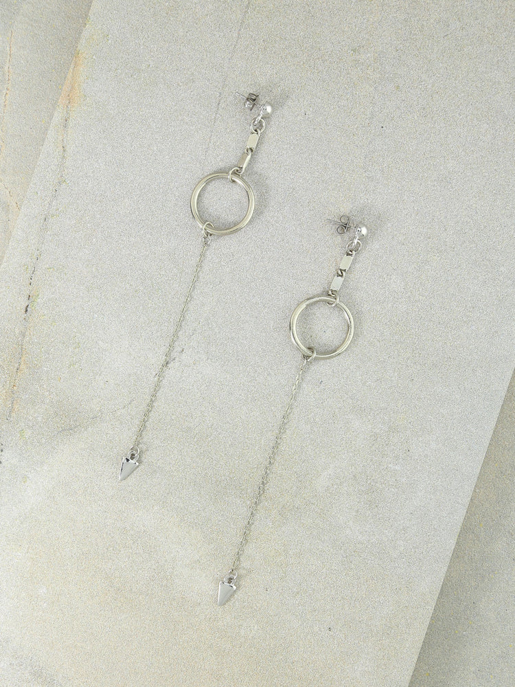 The Julian Drop Earrings Silver