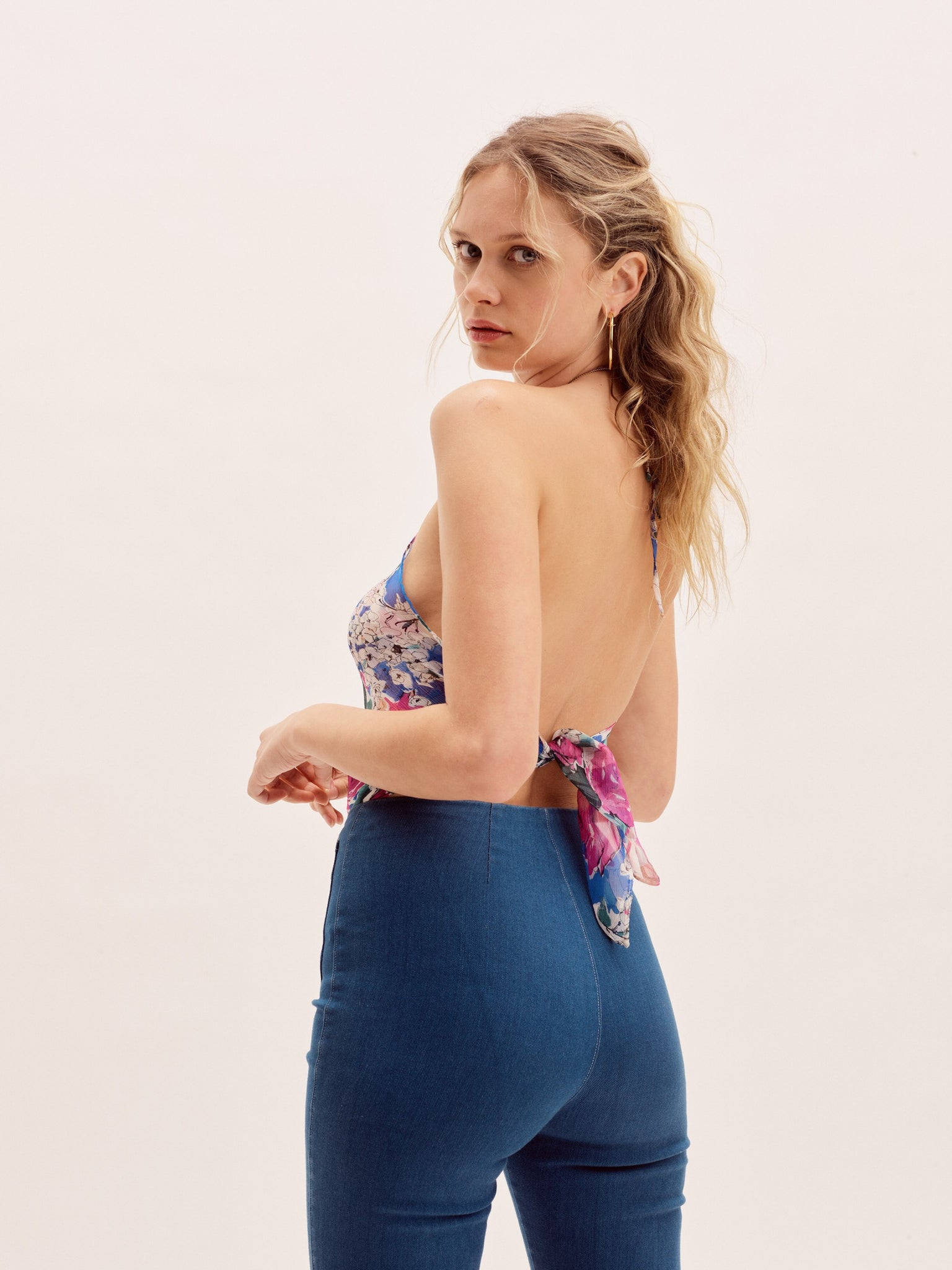 The Elle Top - Blue Floral