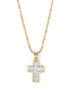 Necklaces The Crystal Cross Necklace Vanessa Mooney