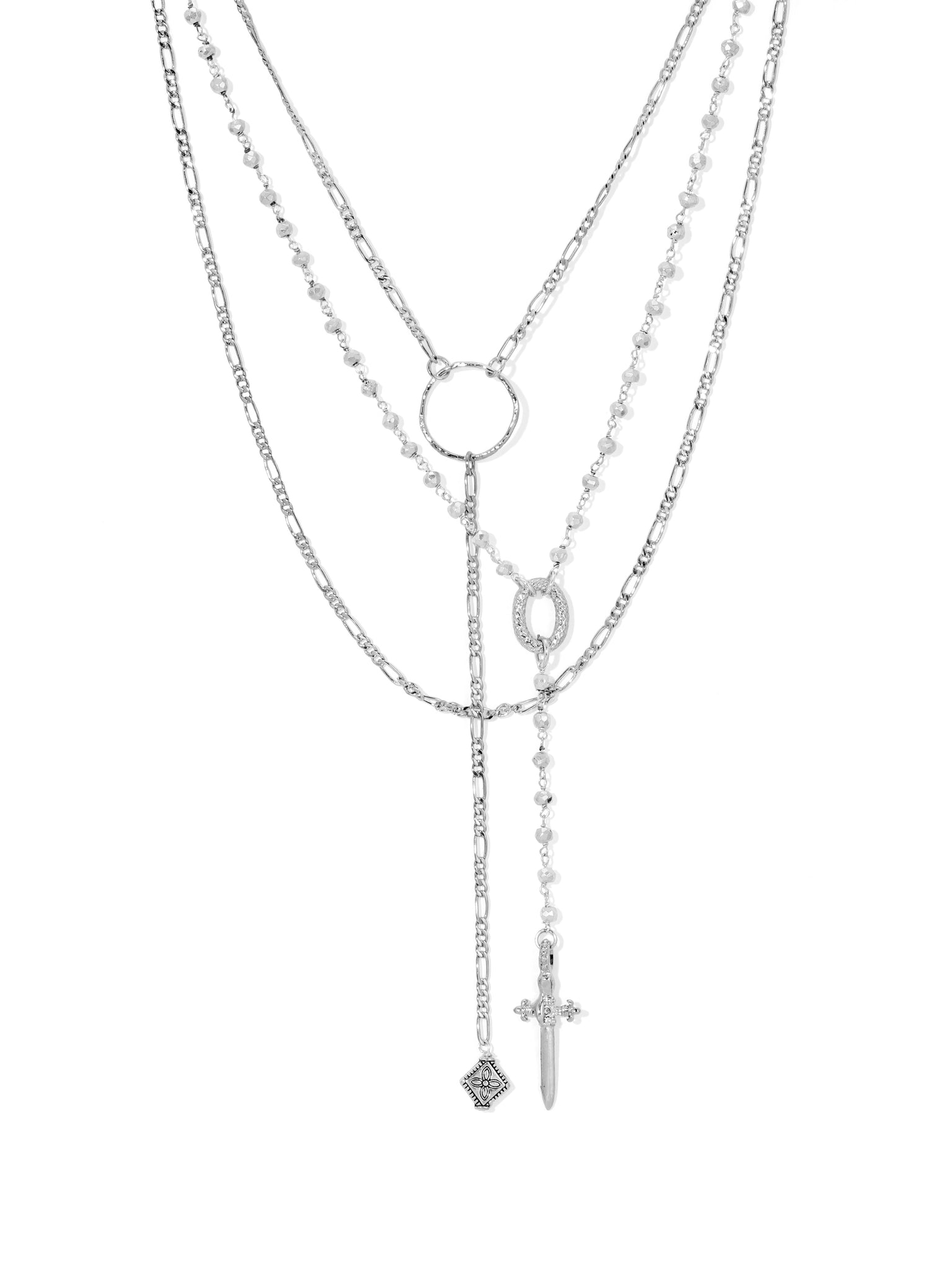 Necklaces The Hope Rosary Necklace – Silver Vanessa Mooney