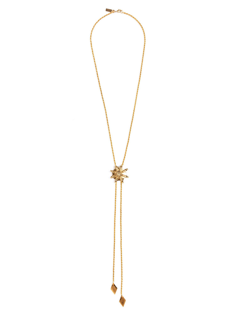 Vanessa Mooney Jane Bolo Necklace in Metallic Gold YR5r1WwX