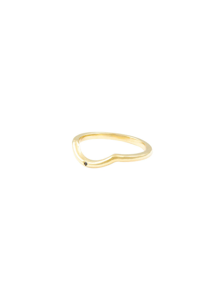 The Darling Single Stone Gold Black Diamond Ring