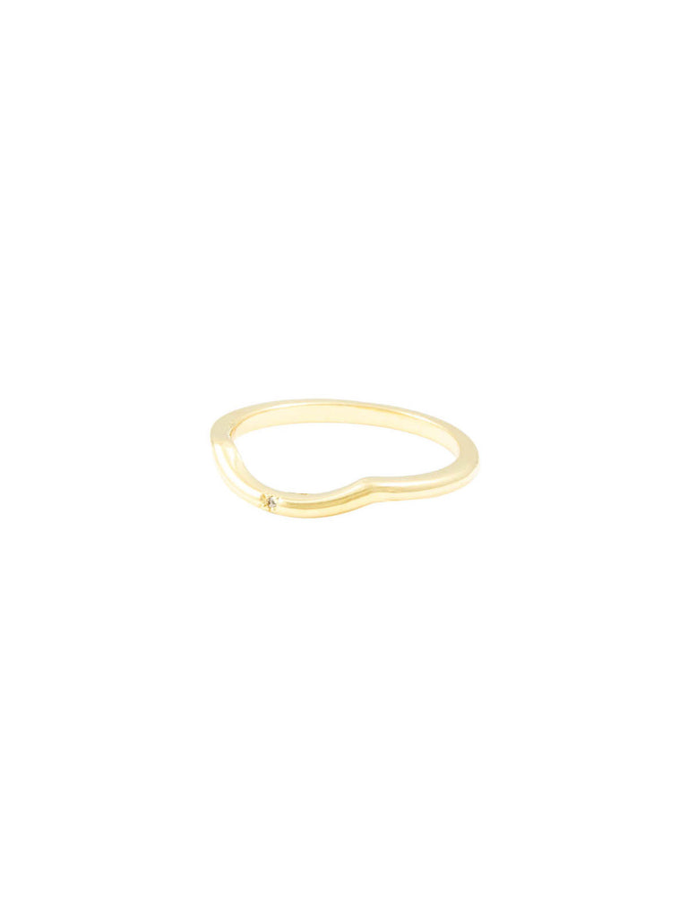 The Darling Single Stone Gold White Diamond Ring