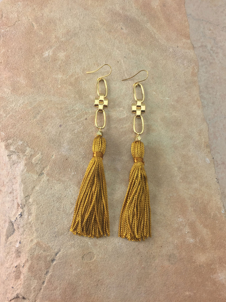 The Faith Tassel Earrings Gold