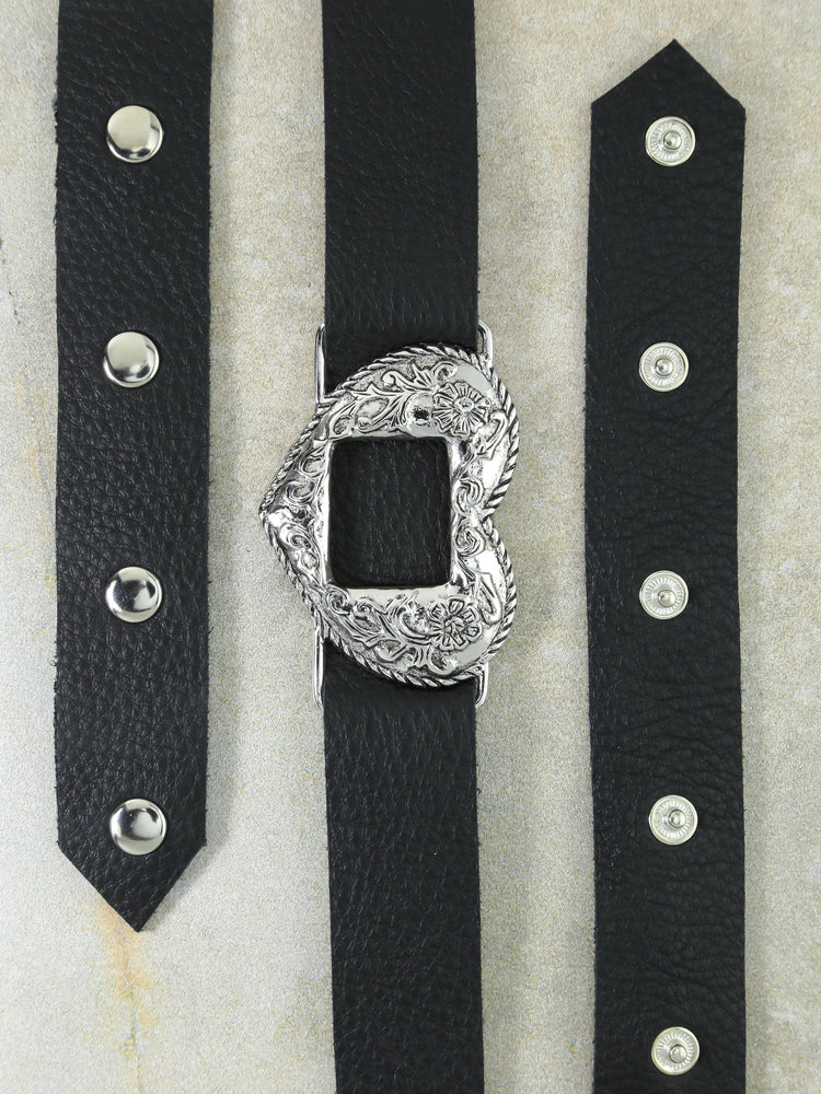 The Silver Black Vixen Belt
