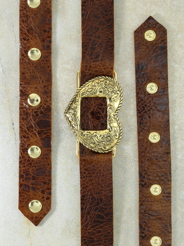The Gold Brown Vixen Belt