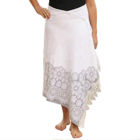 Boho Chic - White Lace - PLUS One Size
