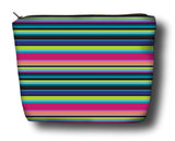 Rainbow Cabana - Black (Plush Microfiber)