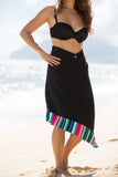 Rainbow Cabana - Black - PLUS One Size (Plush Microfiber)