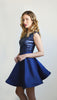 Navy blue elegant dress