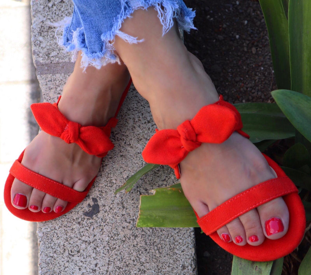 Dulce shoe in tangerine