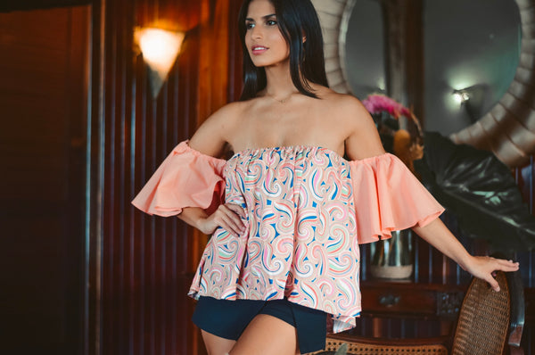 Isabella Top peach